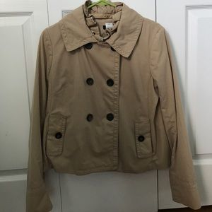 J. Crew khaki pea coat jacket