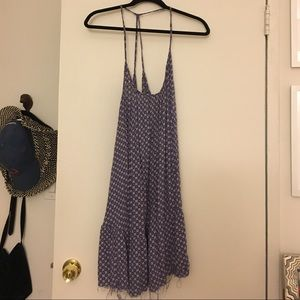 Urban Outfitters Blue patterned swing dress