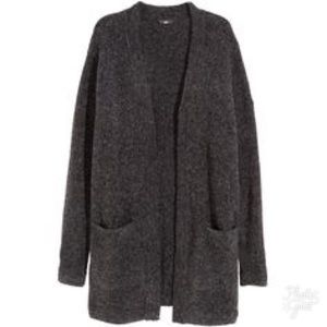 Grey H&M Slouchy Cardigan with Pockets