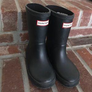 Size 8 Toddler Hunter Boots Black