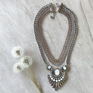 Silver Fashion Statement Necklace
