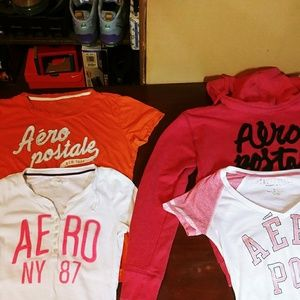 Areopostal shirts size med. & LG