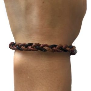 Boho, braided, leather bracelet