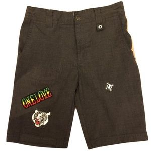 Shorts w/ Patches, Gray, Big Boy sz. 8, One Love