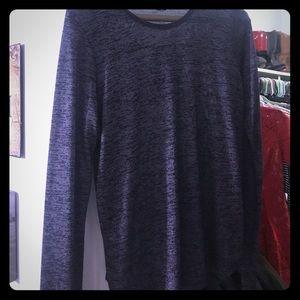Purple shimmery log sleeve blouse
