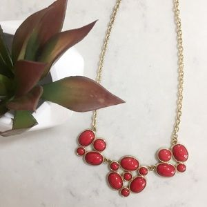Red & Gold Statement Necklace