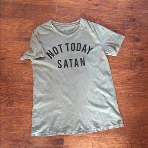 NOT TODAY SATAN graphic tee!