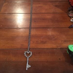 """Forever 21 key necklace with 26"""" chain"""