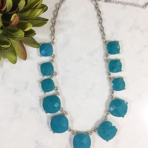 Turquoise & Silver Statement Necklace