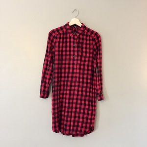 Madewell Plaid Flannel dress XS