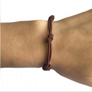 Boho, knotted, leather bracelet