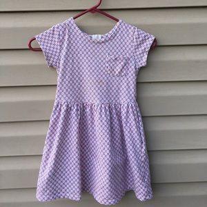 Carter's girls pink/ blue design knit dress