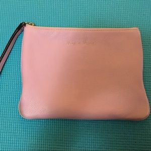 Rebecca Minkoff lilac leather purple clutch