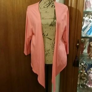 Open Cardigan XL coral