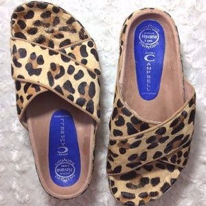 Jeffrey Campbell womens animal print sandals 7