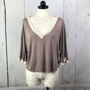 WallpapHer Beige Cropped Top