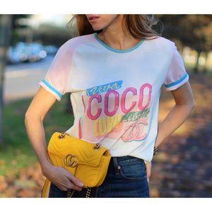 Chanel Coco Cuba T Shirt Pink sz XS *RARE*