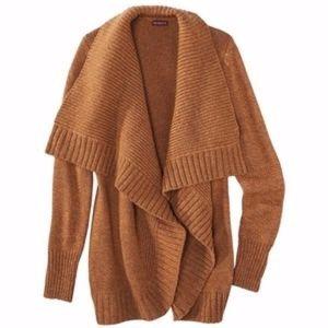 Merona Orange Chunky Cardigan Wool Sweater Small