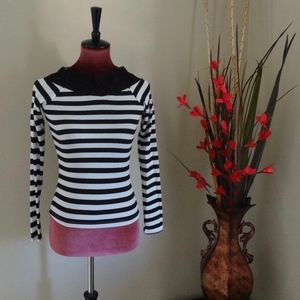 NWT Flower Embroidered  Long Sleeve Top