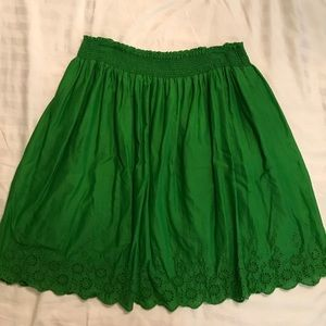 Old Navy Knee Length Green Skirt Size L