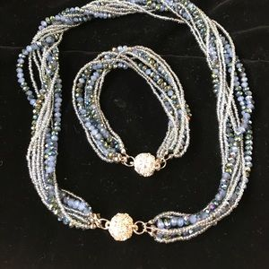 Beaded necklace & Bracelet