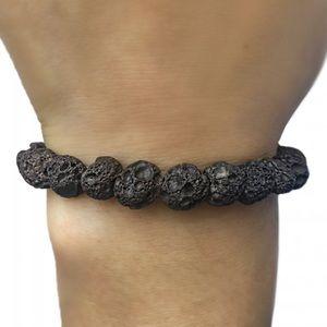 Boho, lava rock bracelet