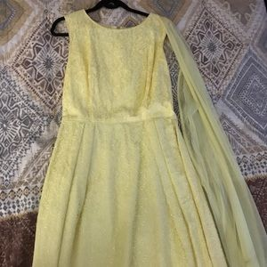 Vintage 50's Yellow Lace Dress Small