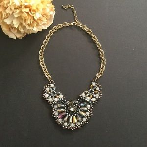 Statement Beaded Crystal Bold Chunky Necklace Boho