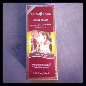 Surya henna cream in light brown. NWB unopened