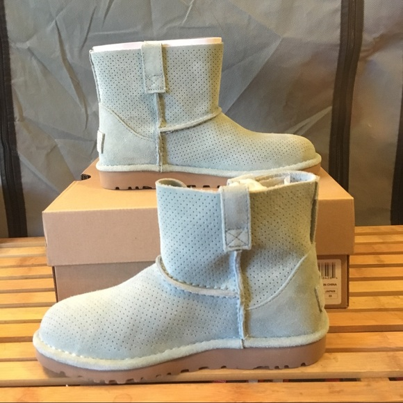 39efc3a5049 Classic Unlined Mini Perforated Leather Booties NWT