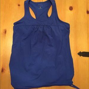 Like new Blue Athleta tank with shelf bra