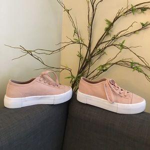 blush platform sneakers