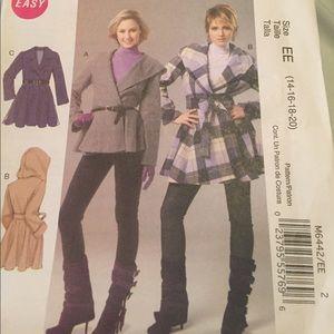 McCalls Easy Misses Coat and Belt