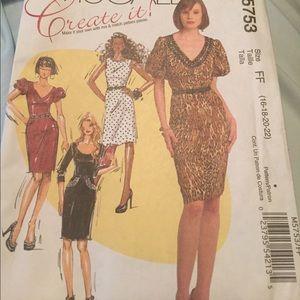 'McCalls create it Dress Sewing Pattern