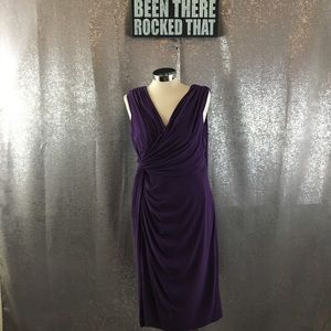 Adrianna Papel riches draped purple dress