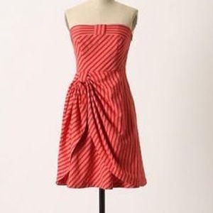 Anthropologie LIL Blazing Rays Strapless Bow Dress