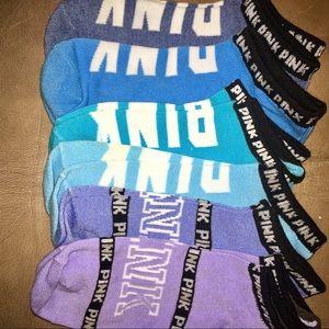 6 Pairs Victoria's Secret Pink Ankle Socks