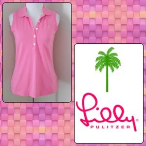 Lilly Pulitzer Pink Palm Sleeveless Top XS