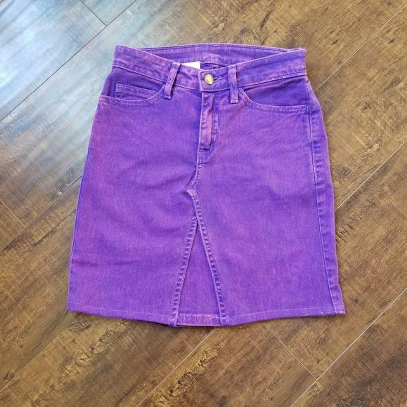 8f1a347499 American Apparel Dresses & Skirts - Bright Purple Denim Hi-Waisted skirt