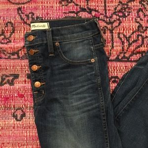 """Madewell high rise """"10"""" jeans"""