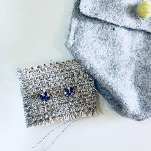 Anthropologie Blue and White Studs