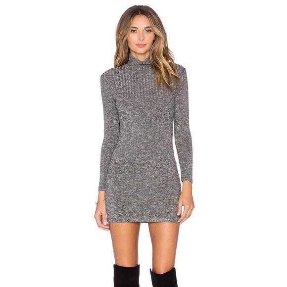 4a14456dbf4e Free People Dresses & Skirts - Long Sleeve Turtleneck Sweater Dress in Black  Rib