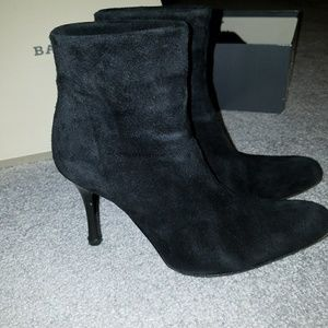 Vintage Black Suede Bally Booties