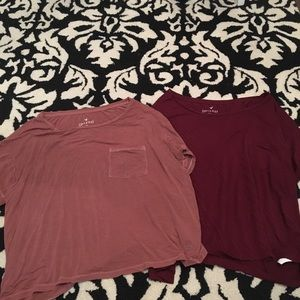 2 soft and sexy American eagle T shirts