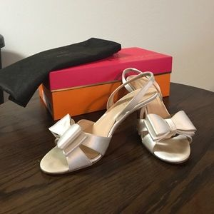 Kate Spade ivory wedding heels