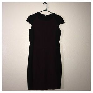 Zara basic dress maroon and black above the knee