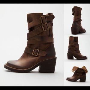 Jeffrey Campbell Deanne Strap Leather Boots