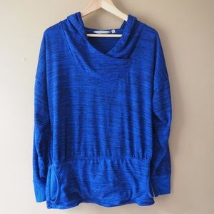 Athleta Blue Pullover Sweater Hoodie  Size Medium