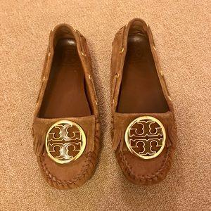 Tan Tory Burch Moccasins Size 6.5