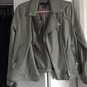 Light olive leather jacket